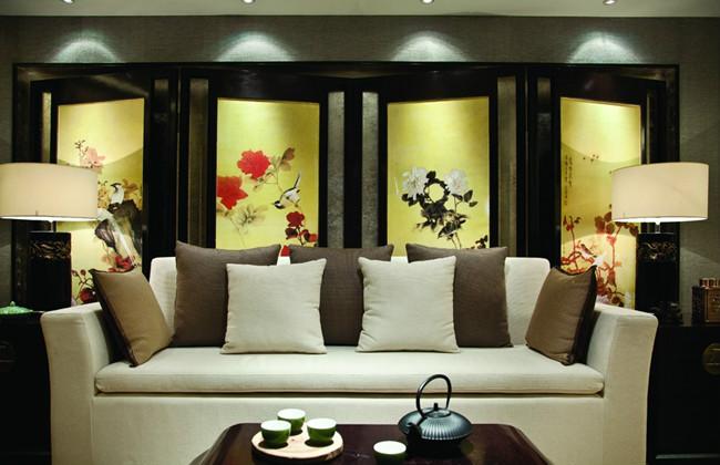 中式风格古典黄色效果图