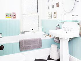 13款黑白瓷砖图 造整洁干净卫生间