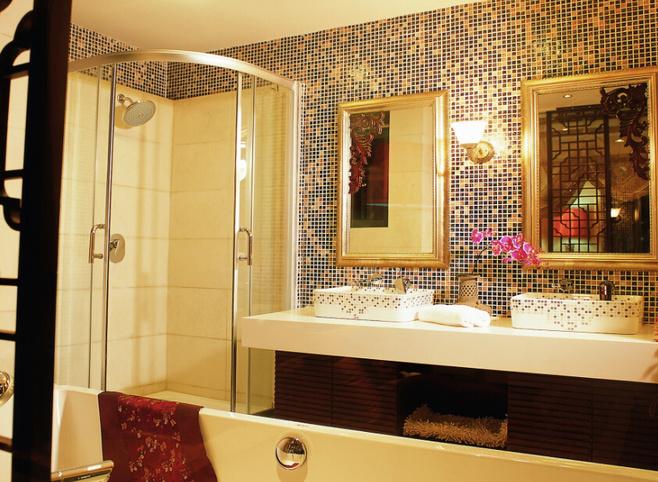 方形台盆设计图 21款中式卫生间设计