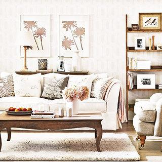 米色客厅沙发沙发效果图