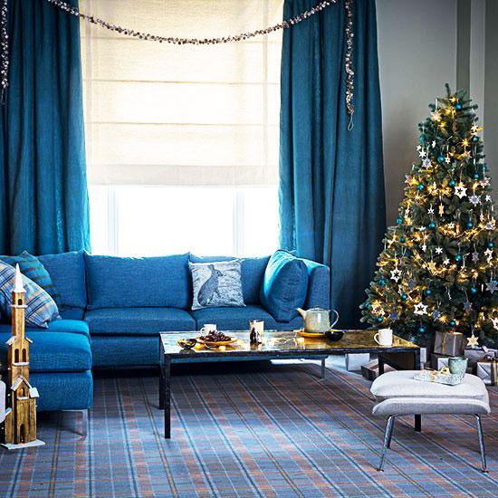 蓝色客厅沙发沙发图片