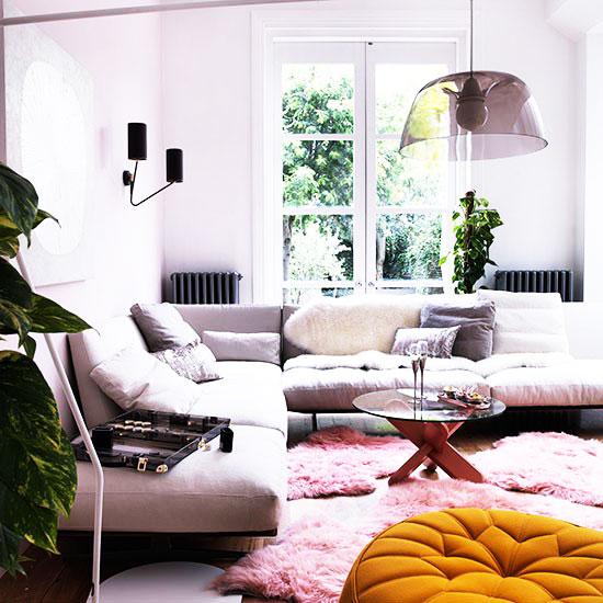 粉色客厅沙发沙发图片