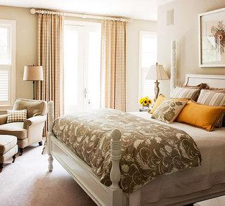 粉色卧室窗帘效果图