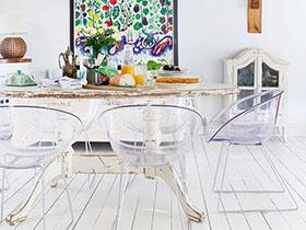 26款簡歐餐廳圖 地板造舒適用餐區