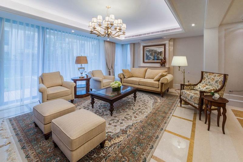 美式风格别墅艺术客厅装修效果图