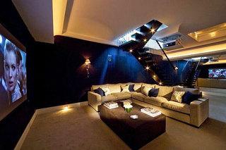 美式风格影音室沙发效果图