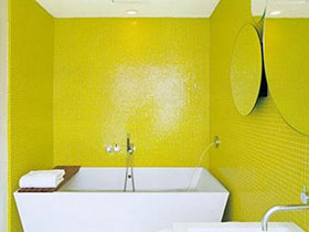 13款黄色瓷砖图片 打造活力卫生间