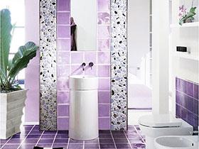 13款紫色瓷砖图片 造浪漫卫生间