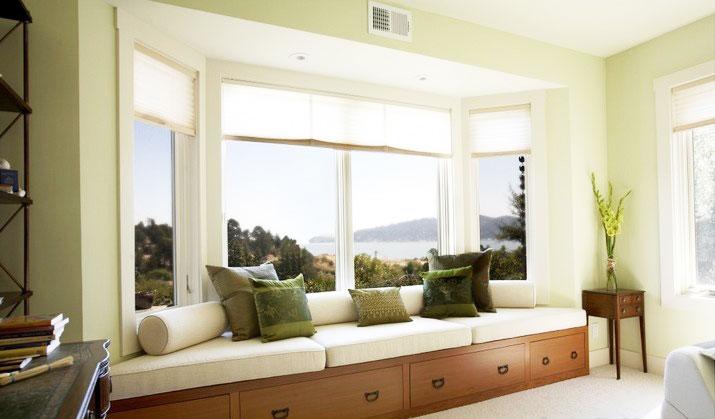米色卧室窗帘窗帘效果图