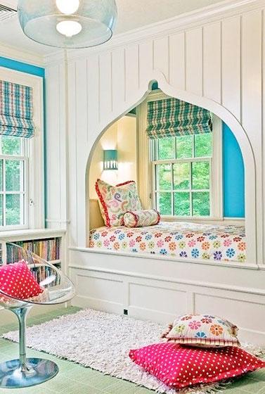 条纹卧室窗帘窗帘效果图