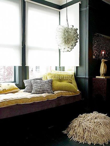 白色卧室窗帘窗帘图片