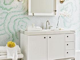 22款綠色瓷磚圖片 造小清新衛生間