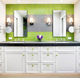 绿色卫生间瓷砖效果图