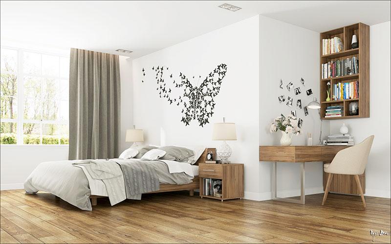 褐色卧室窗帘窗帘效果图