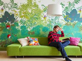 唯美沙发背景墙 17款手绘墙设计