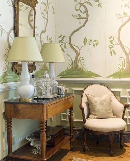 美式风格唯美手绘墙效果图