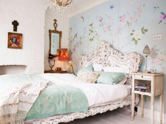 蓝色卧室壁纸壁纸效果图