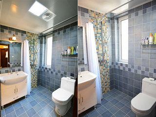 美式风格二居室卫生间装潢