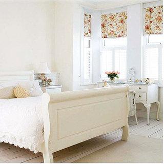 田园风格黄色卧室窗帘窗帘效果图
