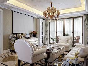138平美式新古典公寓装修 业主品味很赞