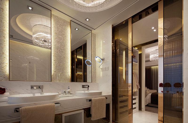 法式风格大户型小清新白色卫生间装修图片