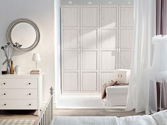 宜家风格简洁白色衣柜设计图