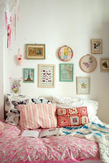 田园风格简洁卧室装修图片