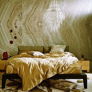 另类卧室壁纸效果图