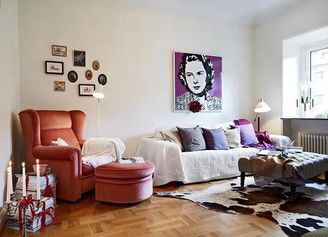 单身公寓温馨5-10万40平米客厅沙发沙发效果图
