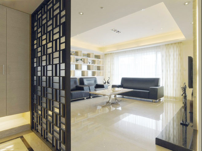 中式风格古典黑色效果图