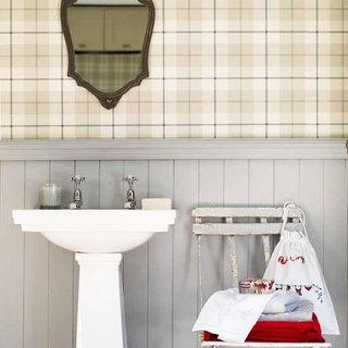 温馨卫生间壁纸效果图