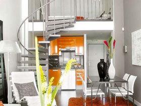 时尚Loft小户 橙色点亮现代29平空间