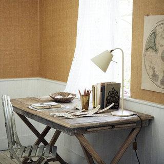 简欧风格白色书房窗帘效果图
