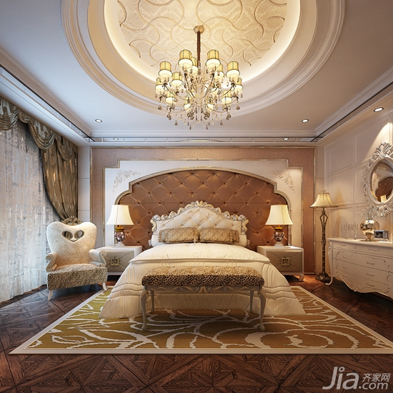欧式风格卧室吊顶装修效果图 卧室吊顶图片