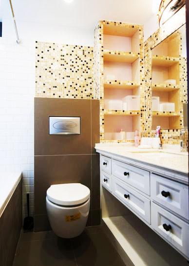 黄色卫浴间瓷砖瓷砖效果图