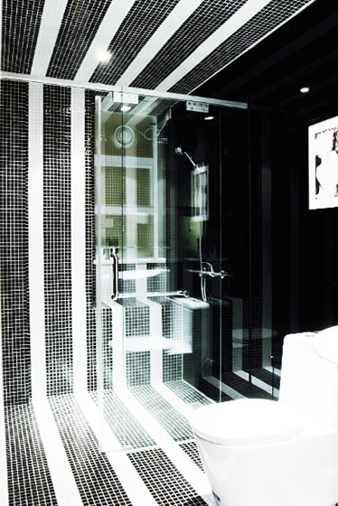 黑白卫浴间瓷砖瓷砖效果图