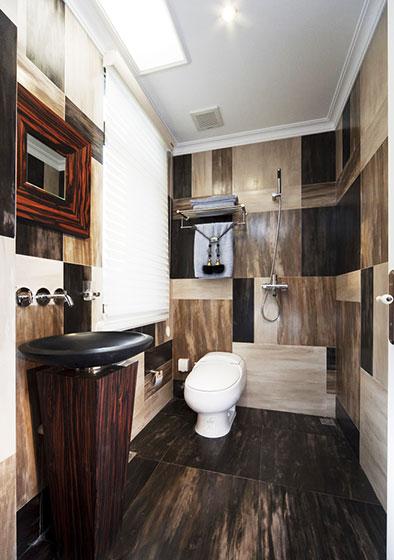 褐色卫浴间瓷砖瓷砖效果图