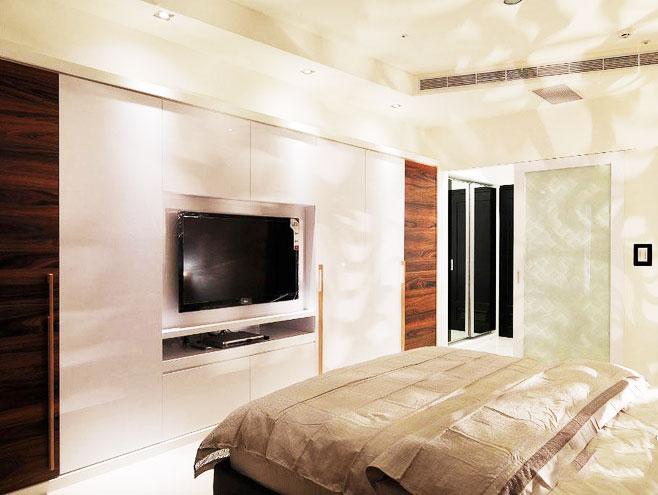 简洁卧室电视背景墙效果图