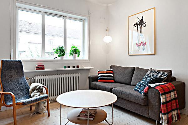 现代简约风格一居室舒适40平米客厅沙发沙发效果图
