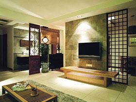 电视背景墙变隔断 13张客厅隔断效果图