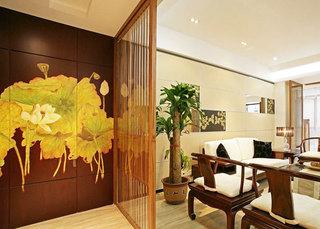 中式风格原木色客厅装潢