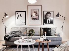 打造时尚客厅 16款简约装饰画图片