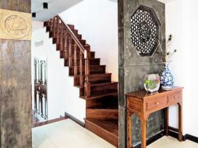 中式楼梯设计 11张楼梯过道效果图