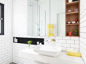 白色瓷砖图片 12款打造干净卫生间