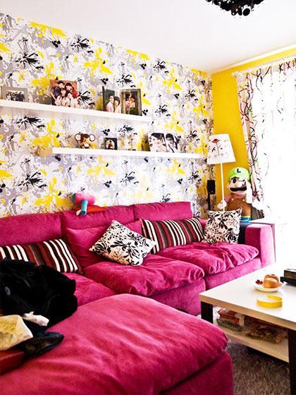 客厅背景墙壁纸效果图