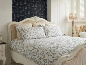 优雅简欧风卧室 舒适床头软包效果图