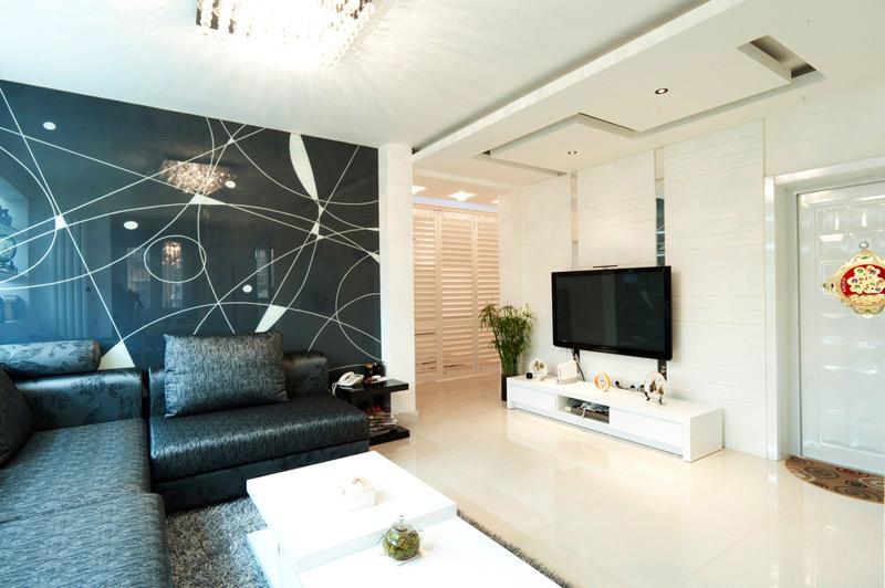 黑白灰时尚客厅空间设计
