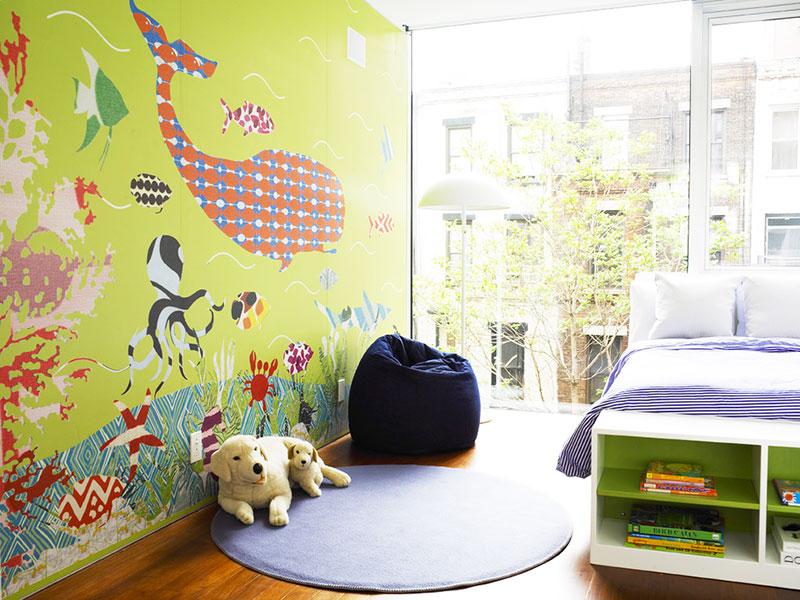 手绘儿童房壁纸图片