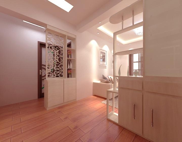 白色玄关柜设计