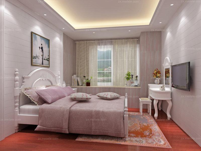3万以下90平米混搭三居室装修效果图,2.8万巧装90平米韩式三居装修高清图片